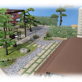 佐用町お庭のリフォーム|ガーデニングとBBQが楽しめるお庭にガーデンリ...