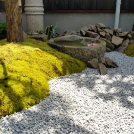 小さな坪庭のアイデアリフォームガーデン 姫路市