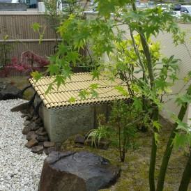 樹脂竹垣の和庭にリフォーム工事 宍粟市