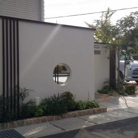 平屋建築の和モダン外構 姫路市