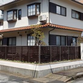 姫路市道路境界に高く積まれたブロック塀を安全な塀にリフォーム工事