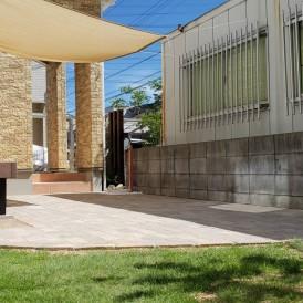 姫路市ガーデンリフォーム工事|レンガ敷きのガーデンテラスの素敵なお庭
