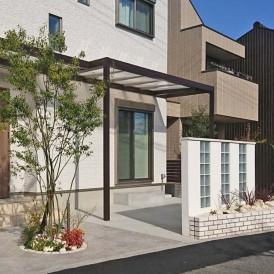 姫路市植栽工事|シンボルツリーのハイノキと琉球石でリゾート風の花壇工工...