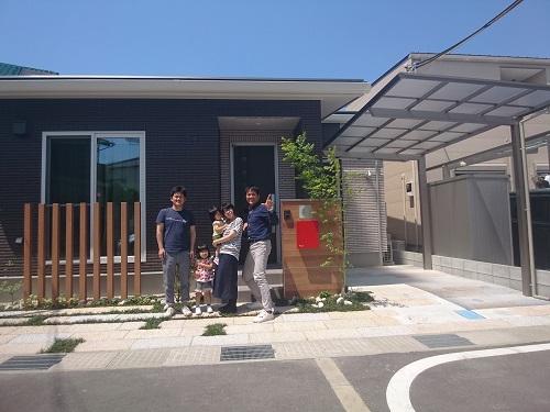 たつの市外構|お庭工事完成記念写真
