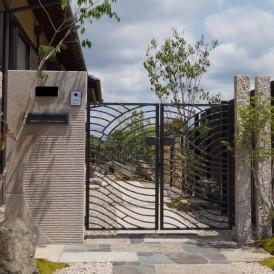 姫路市和風住宅の和モダン外構リフォーム工事