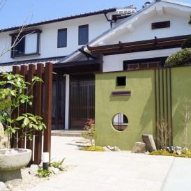 思い出の庭石を移設したガーデンリフォーム工事 姫路市