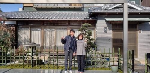 お庭リフォーム工事完成記念写真