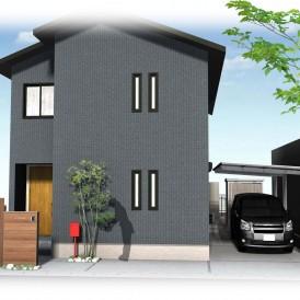 姫路市外構デザイン|木の温もりを感じられるウッド調のオリジナル門柱とフ...