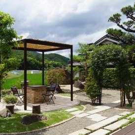 佐用町和のお庭のリフォーム|雑草のお悩みの庭から借景を取り入れたすっき...