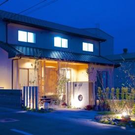 和モダン外構 ライトアップで魅せるお庭 姫路市
