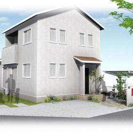 太子町新築外構|ナチュラルで可愛い住宅の統一感あるガーデンエクステリア...