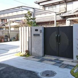 姫路市外構リフォーム|古い庭石を再利用したガーデンリフォーム