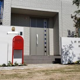 相生市新築外構|一条工務店のお家に似合うオシャレな門柱アイテムを使った...