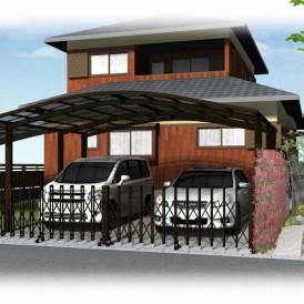 姫路市本格的な和風住宅のお家の外構お庭工事|奥行感ある石畳のアプローチ