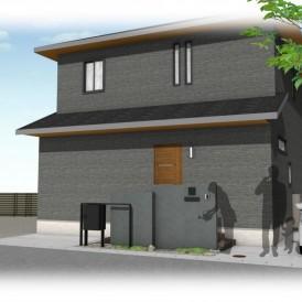姫路市大和ハウスの外構|宅配ポストをアイアンデザインフレームでオシャレ...