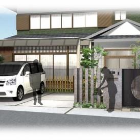 姫路市和モダン外構リフォーム工事|庭石や灯篭、水鉢を再利用した和庭リフ...