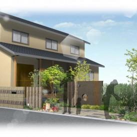 姫路市現代和風住宅の新築外構デザイン|落ち着いた雰囲気の和モダン外構