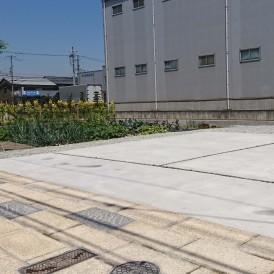 姫路市外構ガレージ|御影石を使った石柱・石畳の和モダンな車庫廻り工事