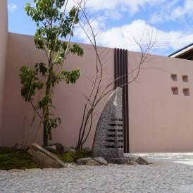 創作置き灯篭のある粋な和の坪庭 姫路市M様邸