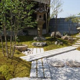京風の苔のある上品な和の庭 姫路市N様邸