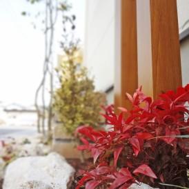 レンガ敷き花壇・レンガ塀と木製フェンスのナチュラルガーデン 姫路市W様...