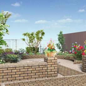 菜園を楽しむ中庭