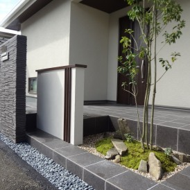 住友林業新築外構工事和風モダン上質な坪庭 姫路市A様邸