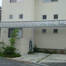 オシャレなカーポート デザイン性の高いMシェード姫路市K様邸