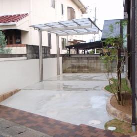 狭小地に花壇と駐車場を取り入れたリフォーム 太子町U様邸